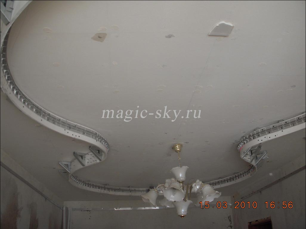 Своими руками двухъярусные потолки